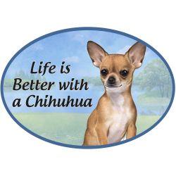 Chihuahua, tan  Euro Magnet