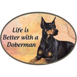 Doberman  Euro Magnet