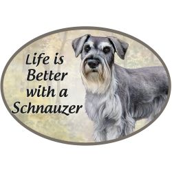 Schnauzer, uncropped  Euro Magnet