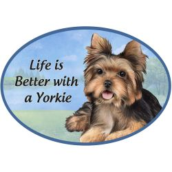 Yorkie pup  Euro Magnet