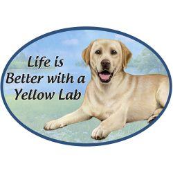 Labrador, yellow  Euro Magnet