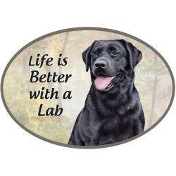 Labrador, black  Euro Magnet