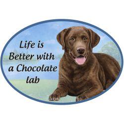 Labrador, chocolate  Euro Magnet