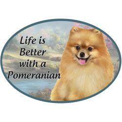 Pomeranian  Euro Magnet