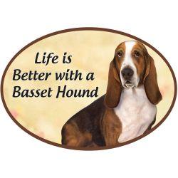 Basset Hound  Euro Magnet