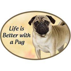 Pug  Euro Magnet