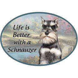 Schnauzer, cropped  Euro Magnet