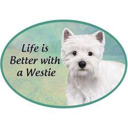 Westie  Euro Magnet