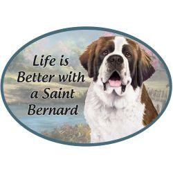 Saint Bernard Euro Magnet
