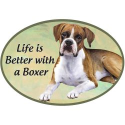 Boxer, Uncropped Euro Magnet