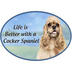 Cocker Spaniel, buff Euro Magnet