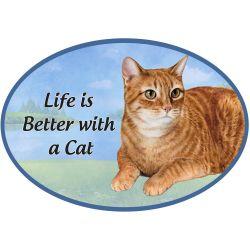 Tabby, orange cat Euro Magnet