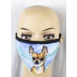 Chihuahua, tan Face Masks