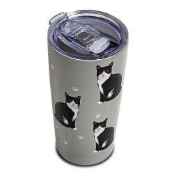 Black and White SERENGETI Ultimate Tumbler - Stainless Steel
