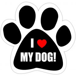 I love my dog Car Magnet
