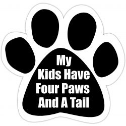 My kids have four paws and a tail Car Magnet