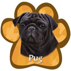 Pug, black Car Magnet