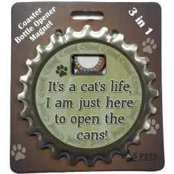 It's a Cats life, I am just here to open the cans