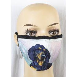 Dachshund, black Face Masks