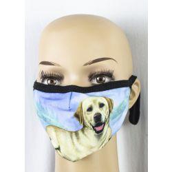 Labrador, yellow Face Masks