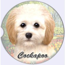 Cockapoo car coaster