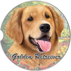 Golden Retriever car coaster