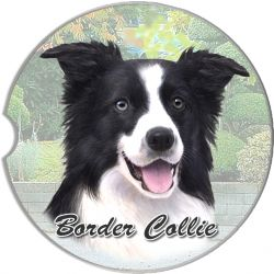 Border Collie car coaster