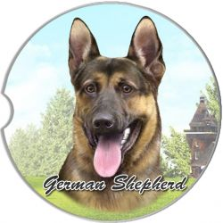 German Shepherd car coaster