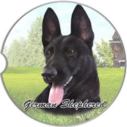 German Shepherd, Black car coaster