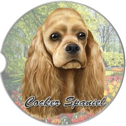 Cocker Spaniel car coaster