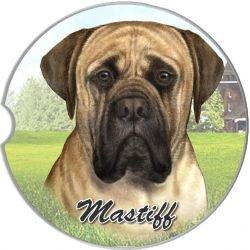 English Mastiff car coaster
