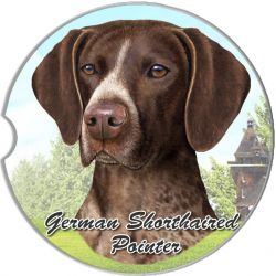 German Shorthaired Pointer car coaster
