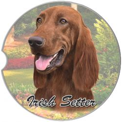 Irish Setter car coaster