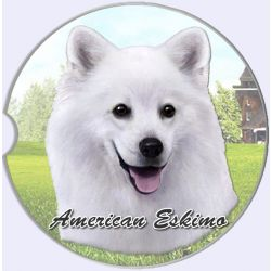 American Eskimo car coaster