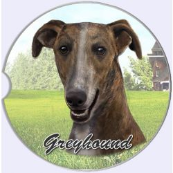 Greyhound car coaster