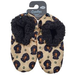 Dachshund, black Pet Lover Slippers