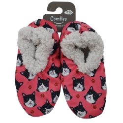 Black and white cat Pet Lover Slippers