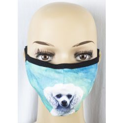 Poodle,white Face Masks