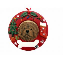Chow  Red Wreath Ornament