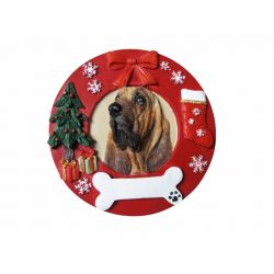 Bloodhound Red Wreath Ornament