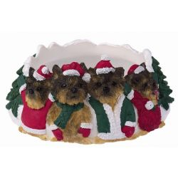 Yorkie, puppy cut Candle topper