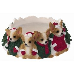 Chihuahua, tan and white Candle topper