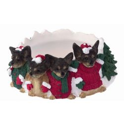 Chihuahua, black and white Candle topper