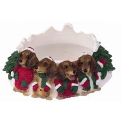 Dachshund, red Candle topper