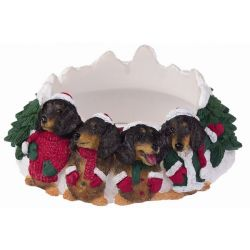 Dachshund, black Candle topper