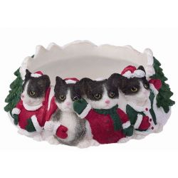 Black and white Cat Candle topper