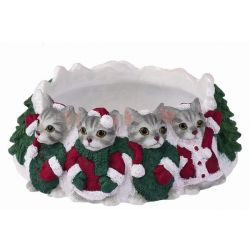 Silver Tabby Candle topper