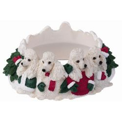 Poodle, white Candle topper