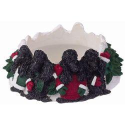 Poodle, black Candle topper