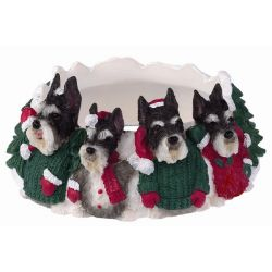 Schnauzer, cropped Candle topper
